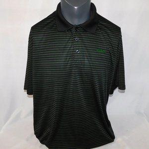 Wilson Mens 2XL Black Green Striped Polo Shirt